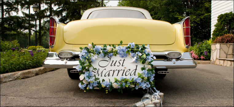 Hochzeitsshop Autodekoration Hochzeitsauto