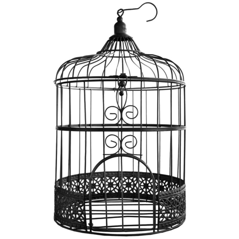 Hochzeitsshop geldbox vogelk fig 20x31cm schwarz for Decorer une cage a oiseaux