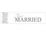 "Autoschild ""Just Married"" in silber"
