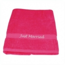 "Badetuch ""Just Married"" in Pink"