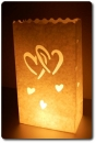 "10er Pack Candle Bags ""Love"" in weiß"