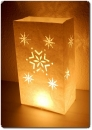 "10er Pack Candle Bags ""Snowflakes"" in weiß"