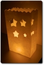 "10er Pack Candle Bags ""Stars"" in weiß"