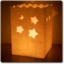"10er Pack kleine Candle Bags ""Stars"" in weiß"