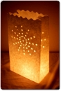 "10er Pack Candle Bags ""Sun"" in weiß oder rot"