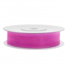 Chiffonband 12mm x 25m in Hot-Pink