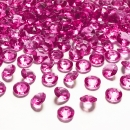 100 Dekodiamanten 12mm Hot-Pink