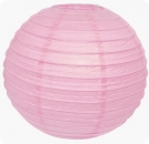 "Lampion ""Rund"" 40cm in rosa"