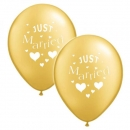 "10 Luftballone ""Just Married"" in gold"