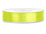 Satinband 12mm x 25m in Neon-Grün