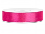 Satinband 12mm x 25m in Neon-Pink