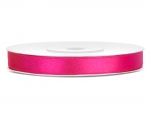 Satinband 6mm x 25m in Neon Pink