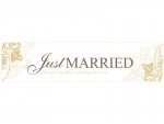 "Autoschild ""Just Married"" in gold"