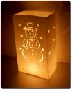 "10er Pack Candle Bags ""Snowman"" in weiß"