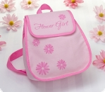 "Rucksack ""Flower Girl"" in rosa"