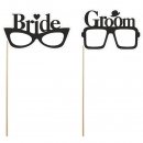 "4-tlg. Party Props Set ""Bride and Groom"""